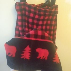 Plaid country wrap for relaxing